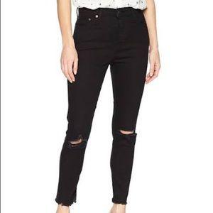 Levi's Wedgie Ripped Knee Raw Hem Skinny Jeans 27